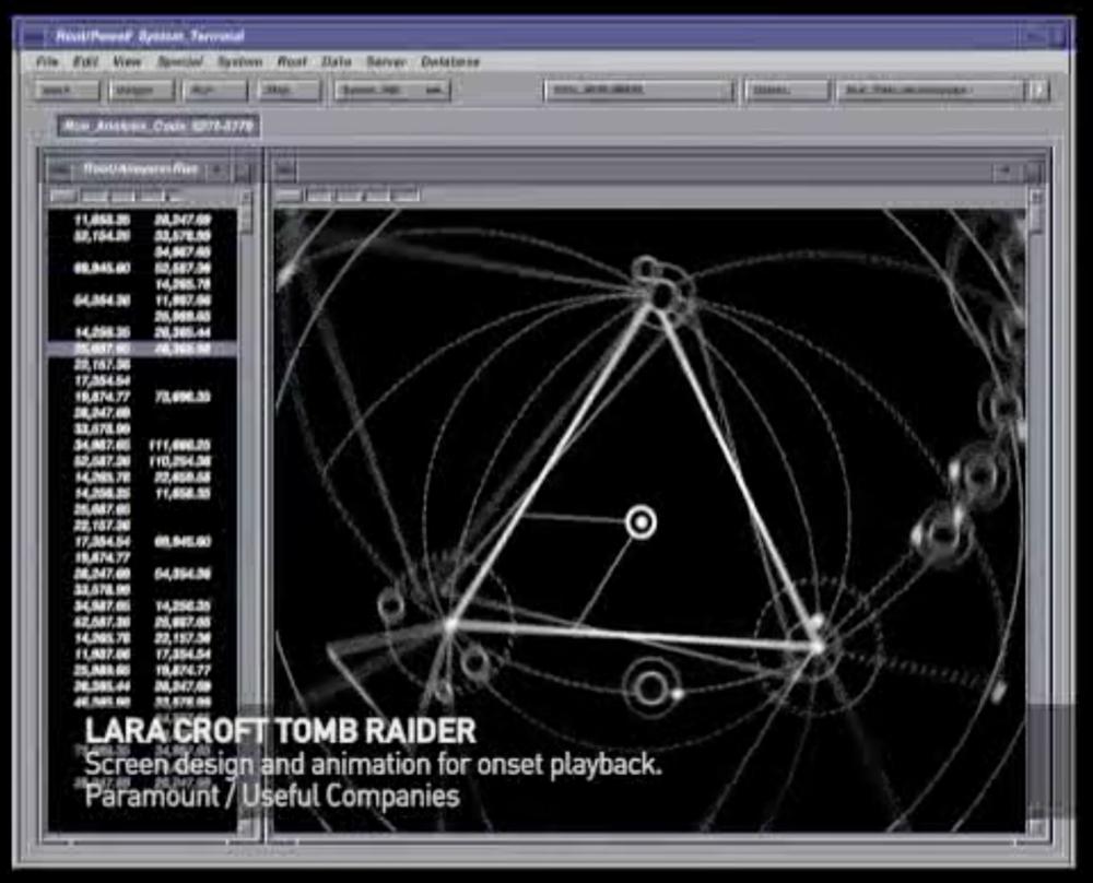 Interfaz de consulta en la película
