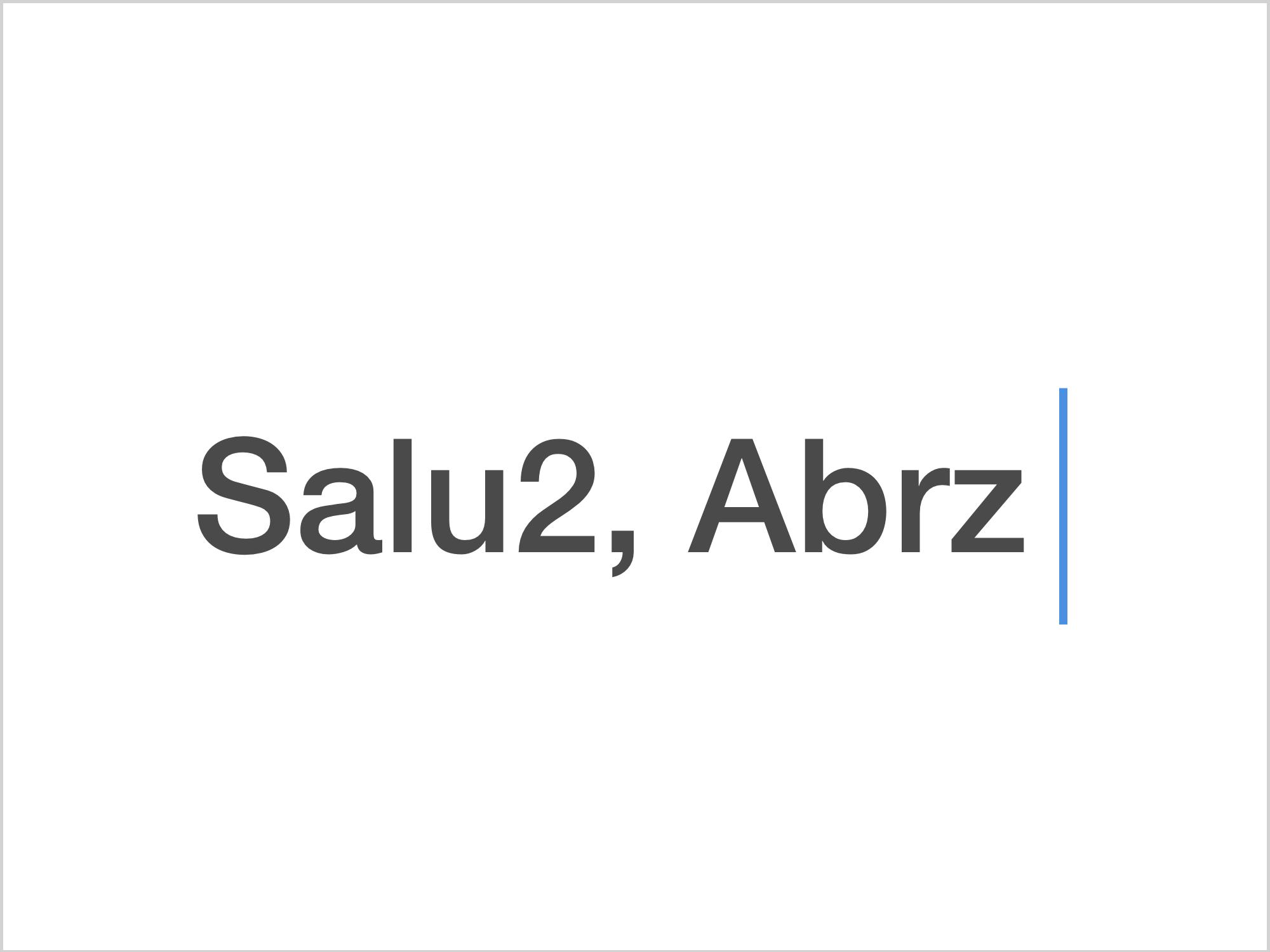 Salu2 y Abrz